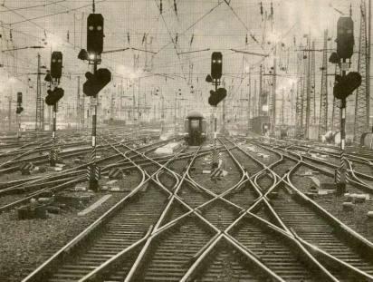 bifurcació vies tren